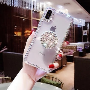 Fashion Bling Rhinestone Case For iphone X XS MAX XR 6 7 8 Plus-Sunshine's Boutique & Gifts