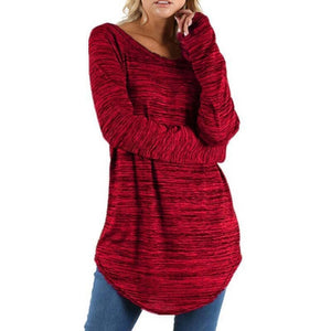 Women Long Sleeve Loose T-shirt-Sunshine's Boutique & Gifts