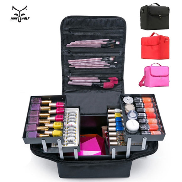 Large Capacity Multilayer Cosmetic Case