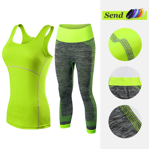 Fitness Clothing Sleeveless Yoga Vest+Pants Tracksuit-Sunshine's Boutique & Gifts