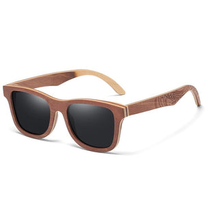 Bamboo Frame Polarized Sunglasses