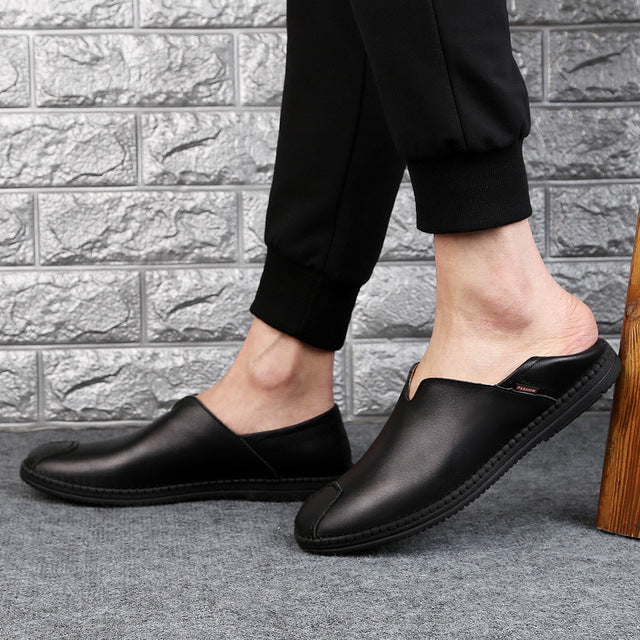 Genuine Leather Casual Loafers-Sunshine's Boutique & Gifts