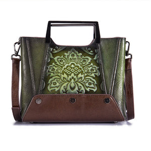 New Retro Tote Handbag Cowhide leather-Sunshine's Boutique & Gifts