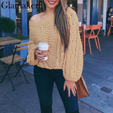 Oversize one shoulder sweater