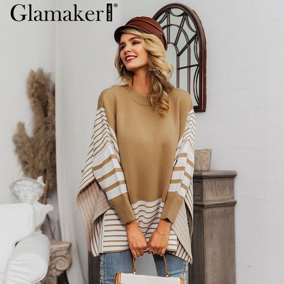 Side split turtleneck oversized long sweater
