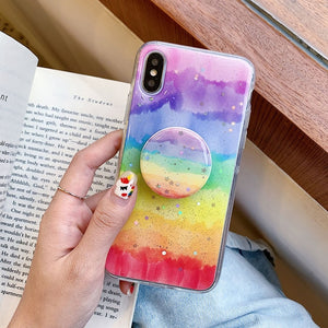 Glitter Rainbow Phone Case For iPhone