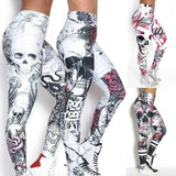 Women Skull Head 3D Print Legging