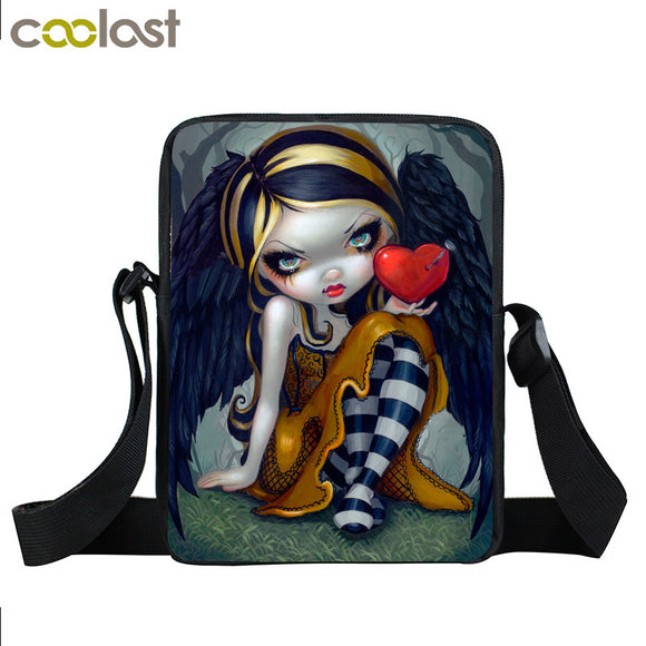 Gothic Angel Mini Messenger Bag-Sunshine's Boutique & Gifts