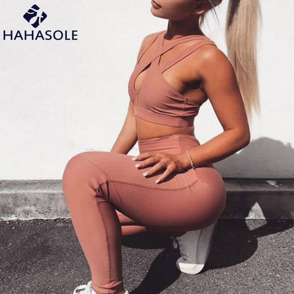 Women Sexy Cross-Chest Yoga Set-Sunshine's Boutique & Gifts