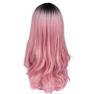 Long Synthetic Ombre High Density Heat Resistant Wavy Wig