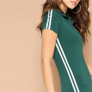 Green Sporty Zip Up Skinny Romper-Sunshine's Boutique & Gifts