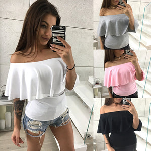Casual Off Shoulder Top-Sunshine's Boutique & Gifts