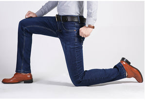 Men Business Casual Stretch Slim Jeans-Sunshine's Boutique & Gifts
