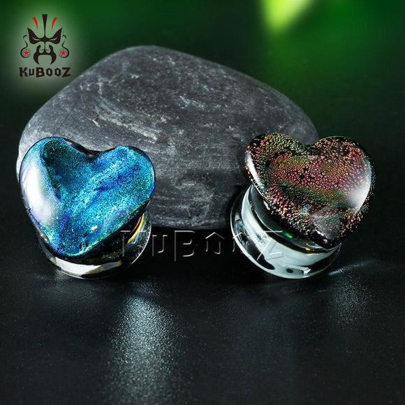 Heart Shaped Glass Plugs