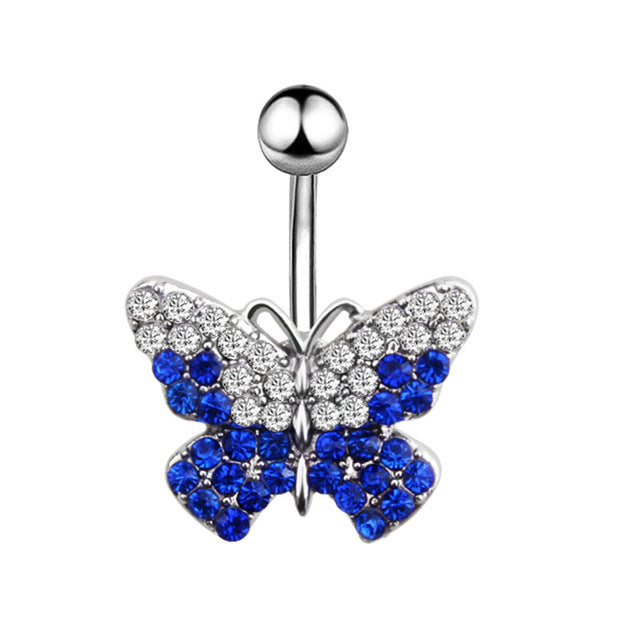 High Quality blue Butterfly Belly Button Rings-Sunshine's Boutique & Gifts