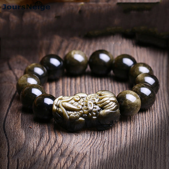 Genuine Black gold Natural Obsidian Bracelets