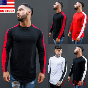 Fashion Men Long Sleeve Crew Neck T-shirts-Sunshine's Boutique & Gifts