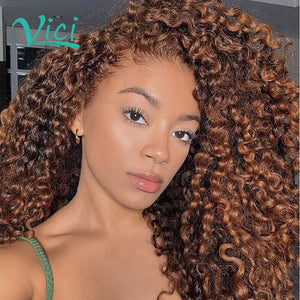 Lace Front Mongolian Kinky Curly Wig