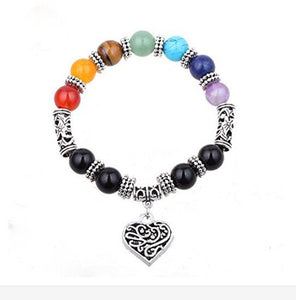 7 Chakra Bracelet Healing Heart Charm Bracelets-Trending products - September 2018-Sunshine's Boutique & Gifts
