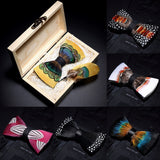 Feather exquisite handmade bow tie
