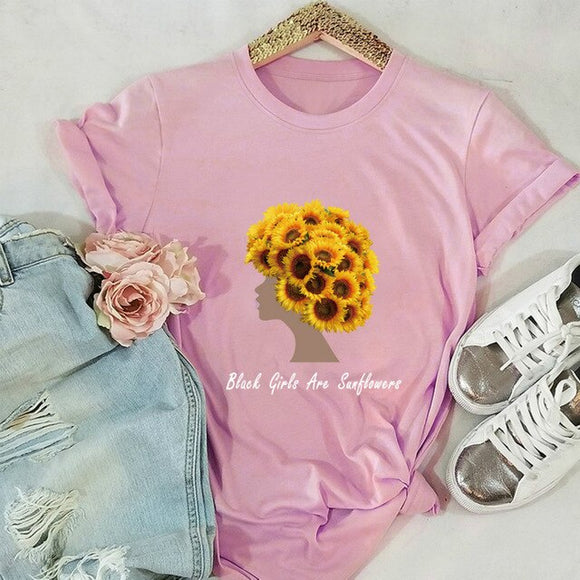 Sunflower Girl Graphic Tee