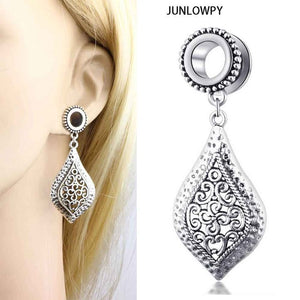 2pcs Stainless Woman Danlge Ear Gauge-Sunshine's Boutique & Gifts