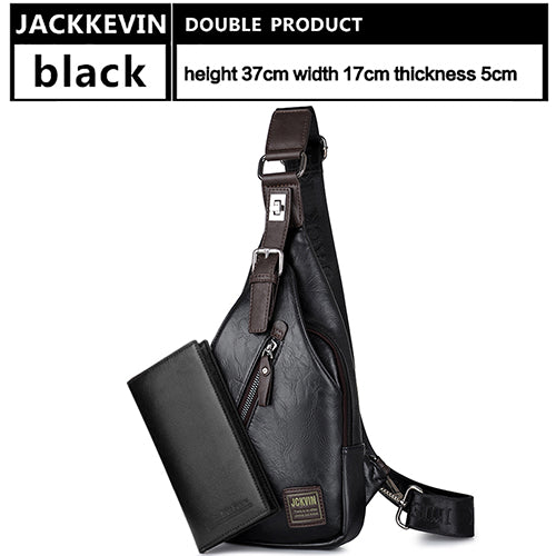 JackKevin Men's Fashion Crossbody Bag Theftproof Rotatable Bags-Sunshine's Boutique & Gifts