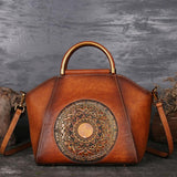 Genuine Leather Shell Totes