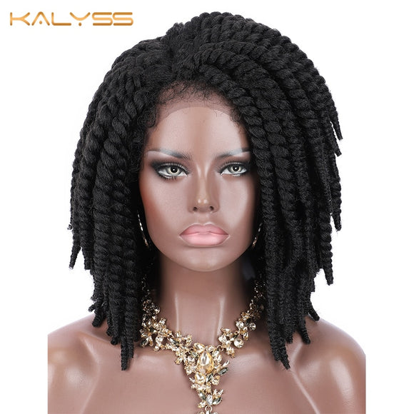 Short Braided Lace Synthetic Wig