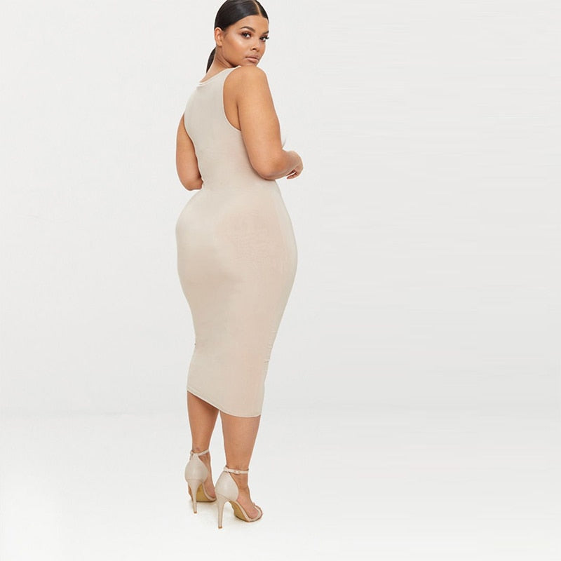 Casual Strapless Bodycon Dresses-Sunshine's Boutique & Gifts