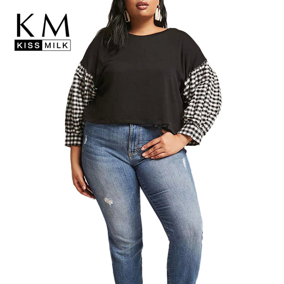 Plus Size Patchwork Tops