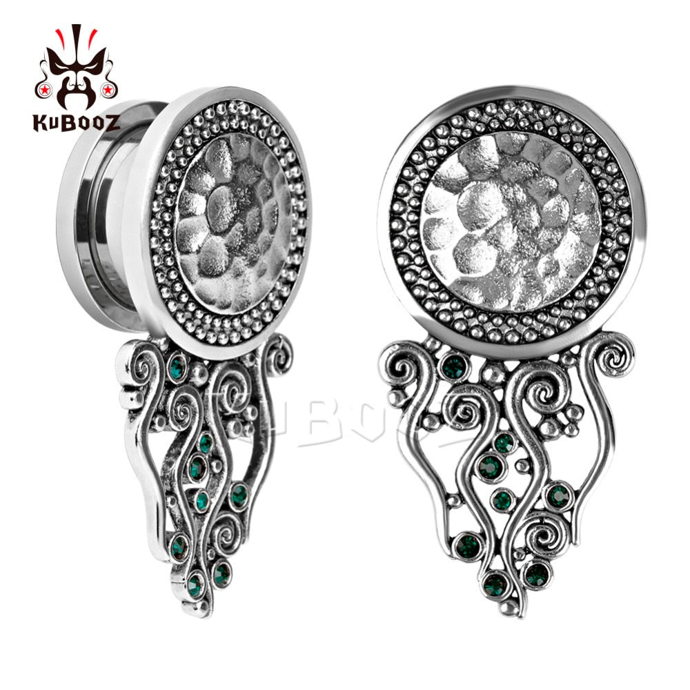 Stainless steel screw back crystal plugs-Sunshine's Boutique & Gifts