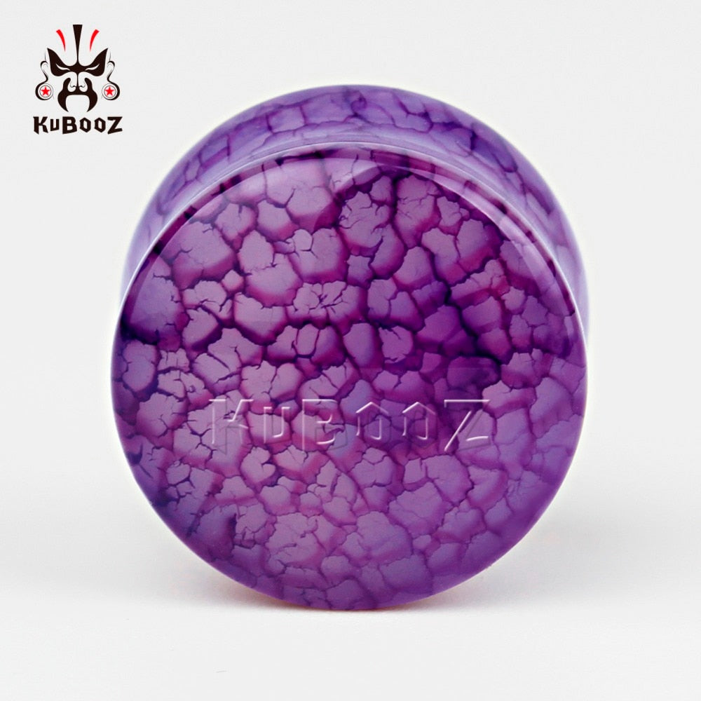 Purple crack rock ear plugs-Sunshine's Boutique & Gifts