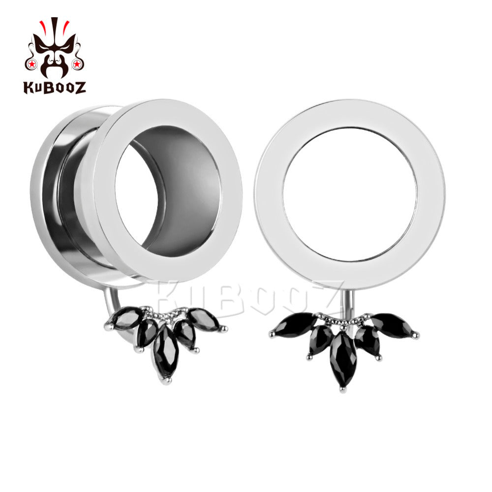Stainless steel concealed petal ear plug-Sunshine's Boutique & Gifts