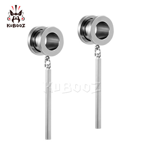 Screw back dangle earring plugs