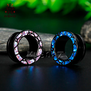Stainless steel black iridescence screw plugs-Sunshine's Boutique & Gifts