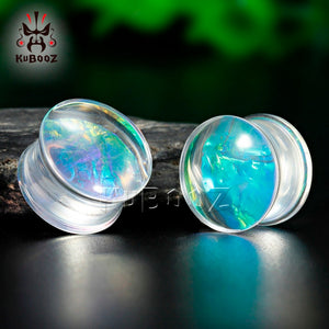 Transparent acrylic saddle ear plugs-Sunshine's Boutique & Gifts