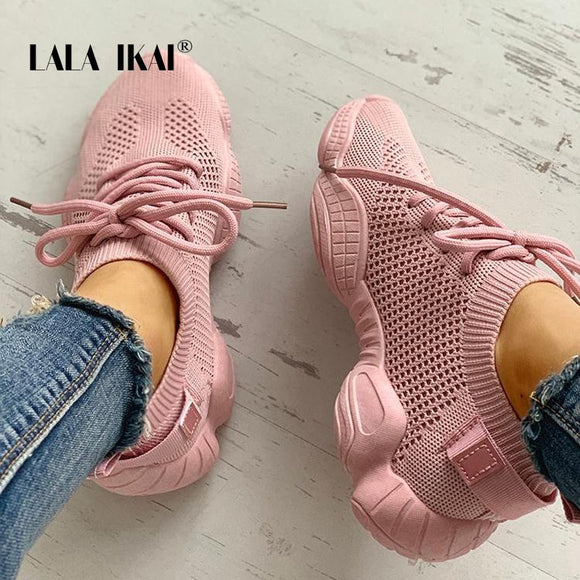 Casual Lace Up Vulcanize Sneakers