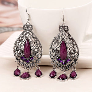 Bohemian Vintage Drop Earrings-Sunshine's Boutique & Gifts