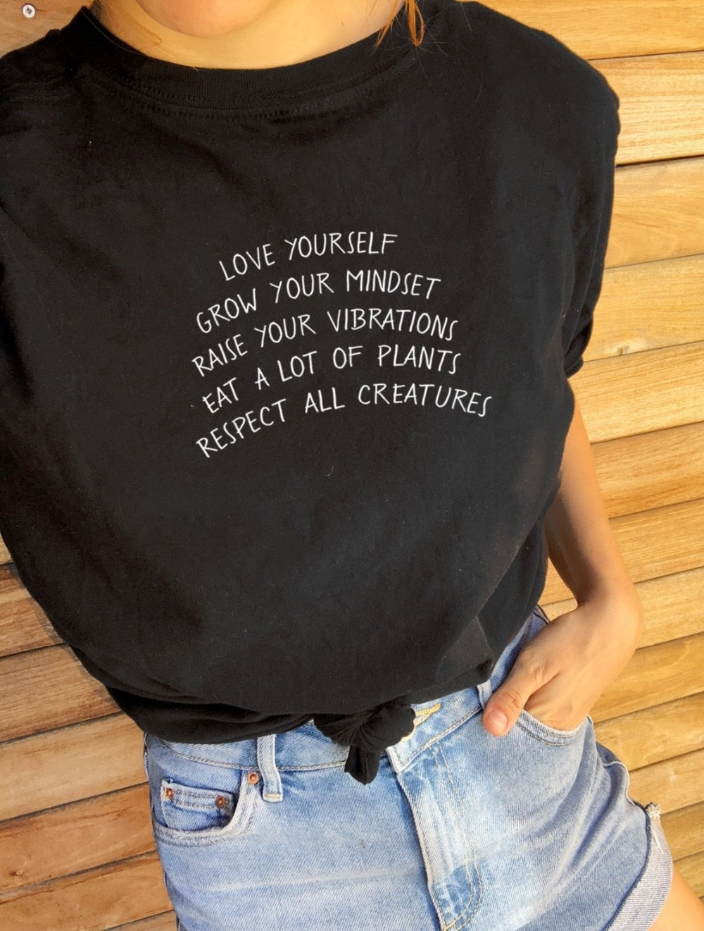 LOVE YOURSELF GROW YOUR MINDSET TEE...-Sunshine's Boutique & Gifts