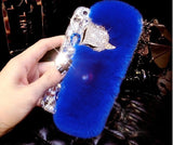3D Luxury Bling Diamond Soft Fur Case-Sunshine's Boutique & Gifts