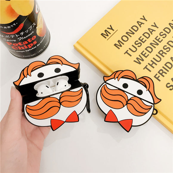 Cartoon Beard Headphone Cases For Apple Airpods 1/2