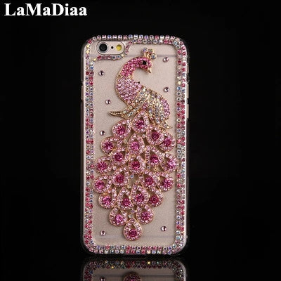 Luxury Bling Glitter Rhinestone Peacock Phone Case For iPhone-Sunshine's Boutique & Gifts