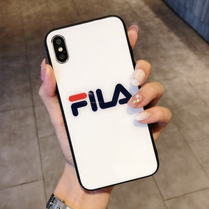 Luxury Italy sports brand glossy HD glass hard phone case for iphone-Sunshine's Boutique & Gifts