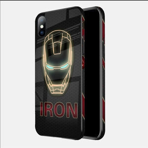 Luxury Marvel Comics Patterned 3D Tempered Glass Cases For iPhone