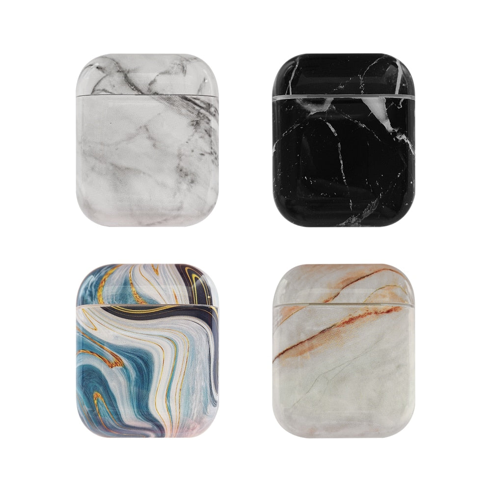 Luxury Marble hard case for Apple Airpods-Sunshine's Boutique & Gifts