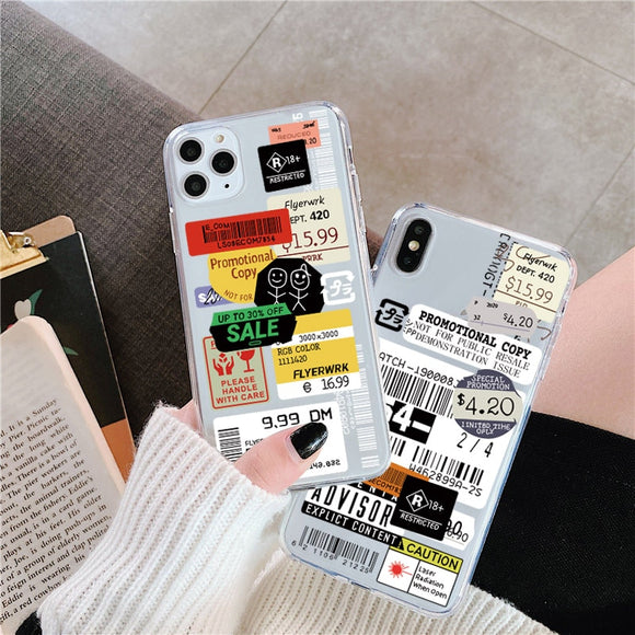 Stamp label barcode Phone Case For iPhone