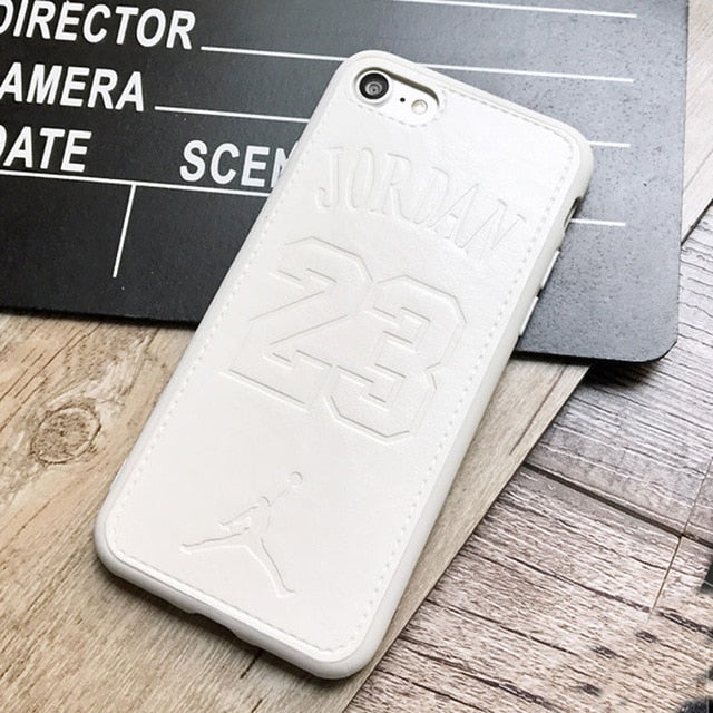 Luxury fly man Jordan 23 Soft leather cover case for apple iPhone-Sunshine's Boutique & Gifts