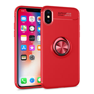 Apple iPhone XS Case iPhone XR Skin Ring Holder Matte Soft Silicone Back Cover-Sunshine's Boutique & Gifts