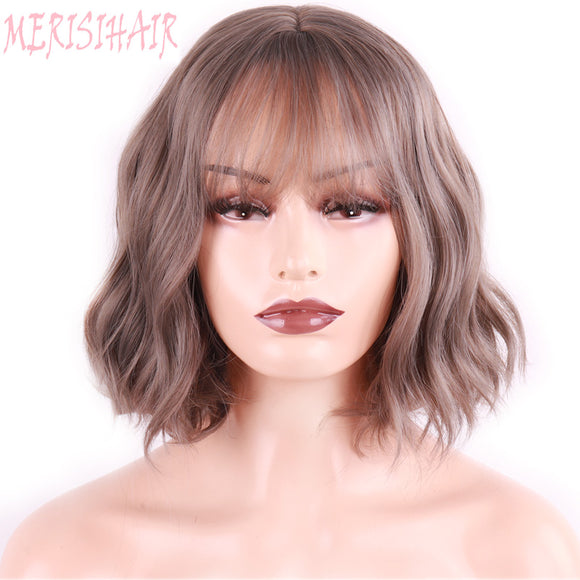 Synthetic Short Water Wave Wigs